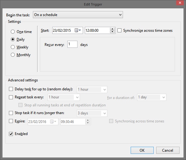 Scheduling Talend Open Studio Jobs in Windows without TAC